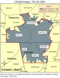 map of chattanooga tn cbic 2 competitive bidding area chattanooga tn ga