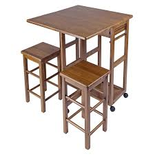 Small Table And Chairs For Kitchen Amazon Com Winsome Space Saver With 2 Stools Square Kitchen