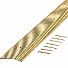 Laminate Floor Edging Trim Trafficmaster Satin Brass Fluted 36 In X 2 In Carpet Trim 18548