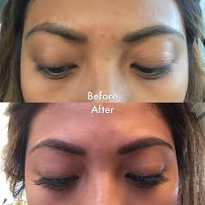 before after semi permanent eyebrow tattoo by so young lee yelp