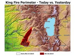 Wildfire Colfax Ca by King Fire Saturday Update Fire Grows Slightly Weather Helpful