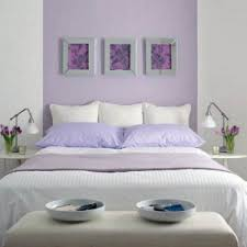heavenly light purple wall bedroom decoration of paint color