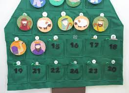 nativity themed felt advent calendar pattern do small things