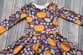 pumpkin dress thanksgiving dress fall dress baby dress toddler