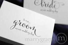 wedding card to groom wedding card to your groom on your our wedding day groom gift
