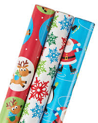 christmas wrap bags american greetings christmas wrapping paper 3 roll