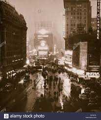 winter evening on times square and broadway new york usa early