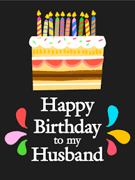 sweet surprise happy birthday card for husband let there be cake