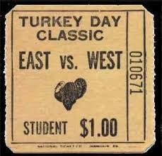 the b r h s east west thanksgiving day football