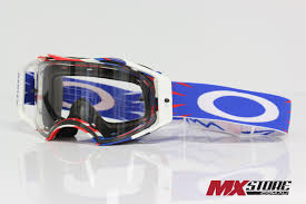 motocross goggle oakley new mx airbrake high voltage red white blue motocross dirt
