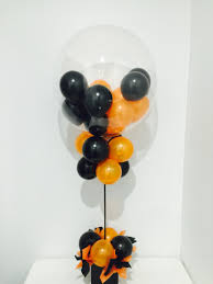 Table Decorating Balloons Ideas Orange And Black Deco Bubble Balloon Table Decoration Balloons