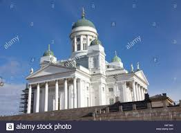 the neoclassical style helsinki cathedral in senate square is a