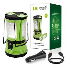 le better lighting experience le 600lm rechargeable cing lantern led with 2 detachable handy