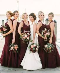 burgundy bridesmaid dresses picture of structured burgundy maxi bridesmaid dresses