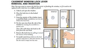 pella casement window lock removal diy house help