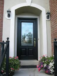 front door impressive black painted front door for home design