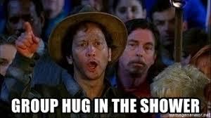 Group Hug Meme - group hug in the showers meme mne vse pohuj