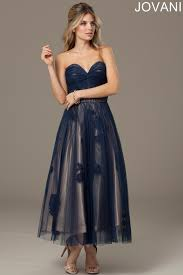 tea length dress jovani 92103 evening dress tea length skirt