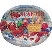 celebration plates seafood celebration 12 inch oval plates sea food celebration