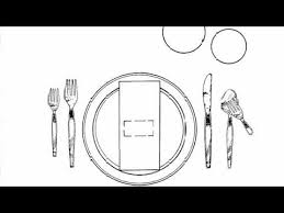 how to set a table with silverware rules of etiquette how to set the table youtube