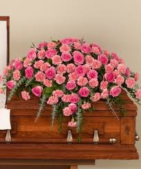 casket spray pink and carnation casket spray stadium flowers