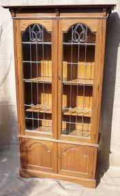Arts And Craft Bookcase Arts And Crafts Bookcase With Leaded Glass Doors Antiques Atlas