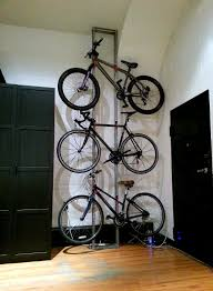 diy apartment bike storage from scrap steel better than expected