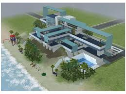 sims 2 modern blue beach mansion by ramborocky on deviantart