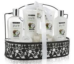 Spa Gift Baskets For Women Amazon Com Spa Gift Basket By Pure Beautiful Metal Bath Basket
