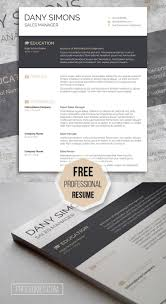 Best Free Resume Templates Indesign by 68 Best Free Resume Templates For Word Images On Pinterest