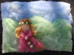 kimmy u0027s spring needle felted painting of princess with flowers
