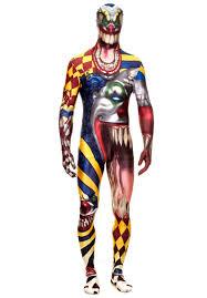morphsuit halloween city morphsuit the clown evil clown costume escapade uk