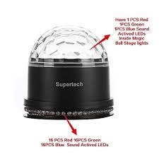 supertech led magic ball light instructions party lights supertech muliti color changes sound actived auto rgb