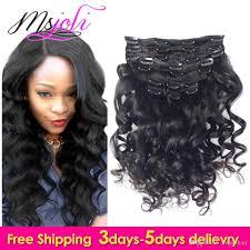Hair Extension Clip Ins Cheap by 7a Peruvian Virgin Human Hair Loose Wave Clip In Extension Natural