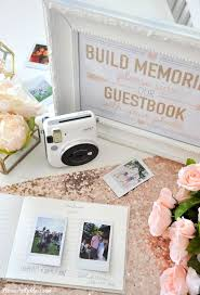 bridal shower sign in book instax photo guestbook for your wedding or shower fuji instax