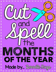 cut and paste the months of the year doodle bugs teaching