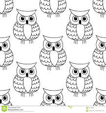 seamless background pattern of a cute owl stock vector image
