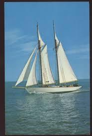 sailing inland lakes new england ship vintage postcard ship and
