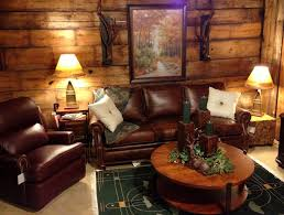 Rustic Livingroom Log Living Room With Rustic Leather Furniture Choosing The Right