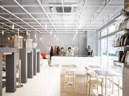 Japanese Minimalist Design by Laboratory Inspired Minimalist Coffee Bar