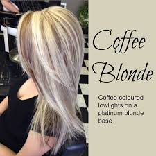 hair platinum highlights coffee hair platinum hair with coffee lowlights