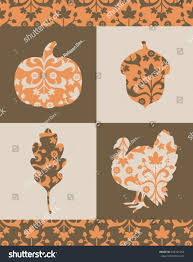 silhouetted thanksgiving graphics ornate classical fill stock