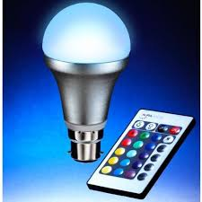 color changing light bulb with remote auraglow bc b22 remote controlled colour changing light bulb amazon