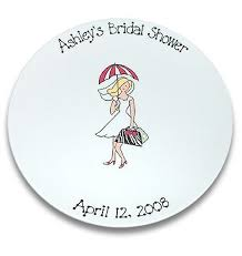 bridal shower autograph plate bridal shower girl signature platter by serendipitycrafts