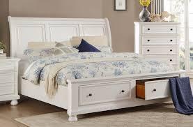 White Storage Bed Homelegance Laurelin Sleigh Platform Storage Bed White Sand Thru