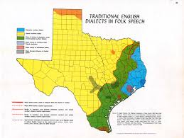 Map Of Texas Hill Country Dialects The Handbook Of Texas Online Texas State Historical