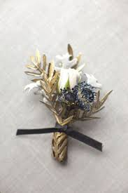 gold boutonniere wedding wednesday luxe navy gold wedding inspiration