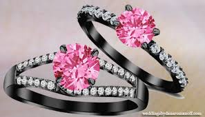 Pink Diamond Wedding Ring by Black Wedding Ring With Pink Diamonds And What You Should
