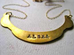 necklaces that say your name nameplate necklace ecouterre