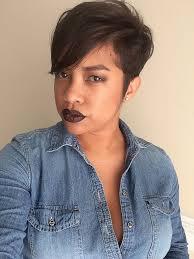 short precision haircut black women pixie cut hair by ashley fields of boho salon in greensboro nc